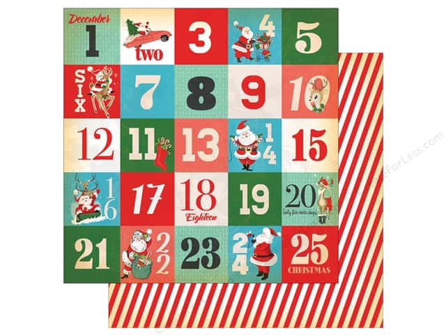 Carta Bella Collection A Very Merry Christmas Paper 12 in. x 12 in.  Days Of Christmas Journaling Cards (25 pieces)