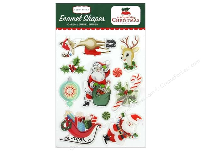 Carta Bella Collection A Very Merry Christmas Enamel Shapes
