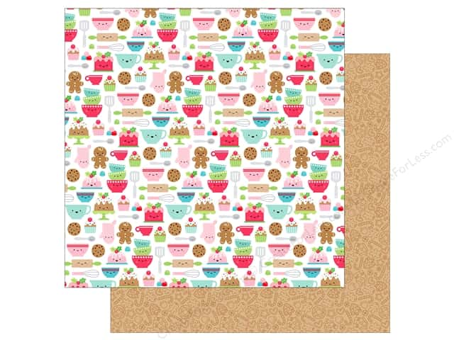 Doodlebug Collection Milk & Cookies Paper 12 in. x 12 in. Santa's Sweet (25 pieces)