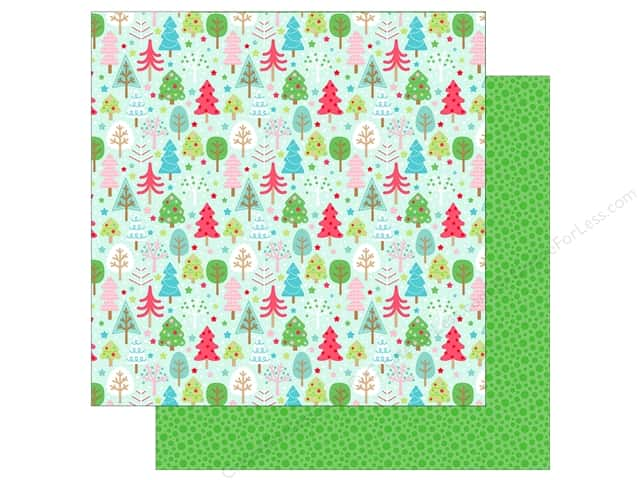 Doodlebug Collection Milk & Cookies Paper 12 in. x 12 in. Tree Festival (25 pieces)
