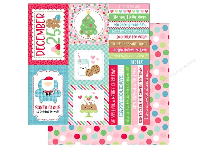 Doodlebug Collection Milk & Cookies Paper 12 in. x 12 in. Christmas Party (25 pieces)