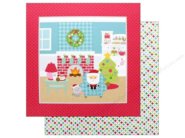 Doodlebug Collection Milk & Cookies Paper 12 in. x 12 in. Pastel Starlights (25 pieces)