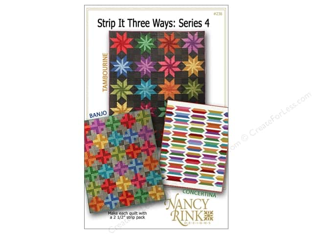 Nancy Rink Designs Strip It Three Ways Series 4 Pattern