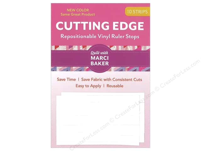 C&T Publishing Cutting Edge Vinyl Ruler Stops White 10pc