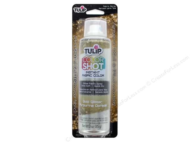 Tulip Color Shot Fabric Spray Aerosol Glitter Gold 3 oz