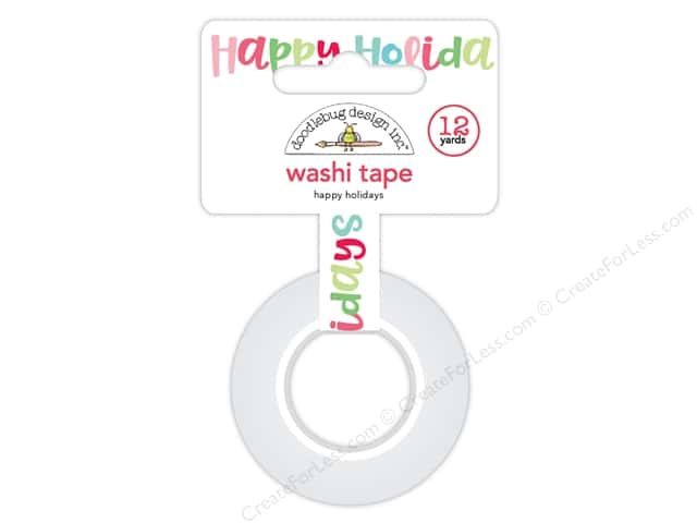 Doodlebug Collection Milk & Cookies Washi Tape Happy Holidays (6 yards)