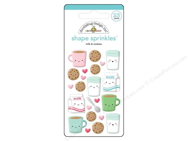 Doodlebug Collection Milk & Cookies Sprinkles Shape (6 sets)