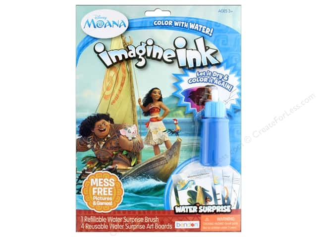 Bendon Books Imagine Ink Water Surprise Set Moana