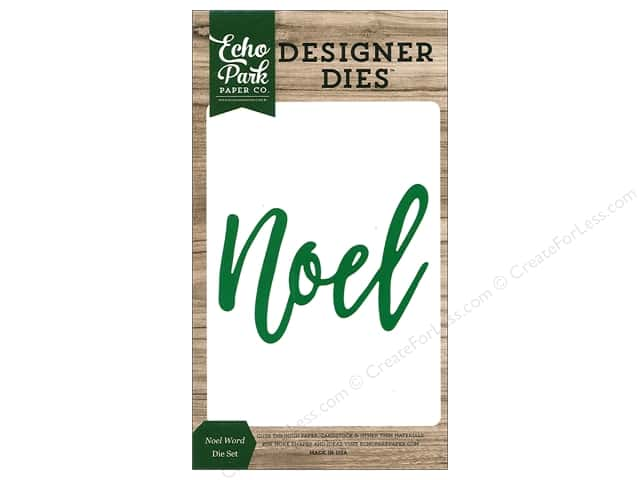Echo Park Collection Christmas Cheer Die Set Word Noel