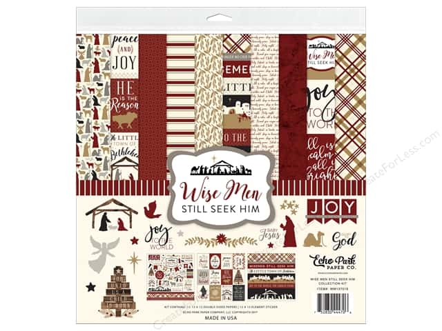 Echo Park Collection Wise Men Still Seek Him Collection Kit 12 in. x 12 in.