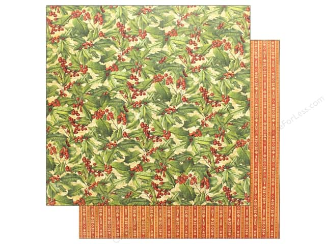 Graphic 45 Winter Wonderland Paper 12 in. x 12 in. Holly (25 pieces)