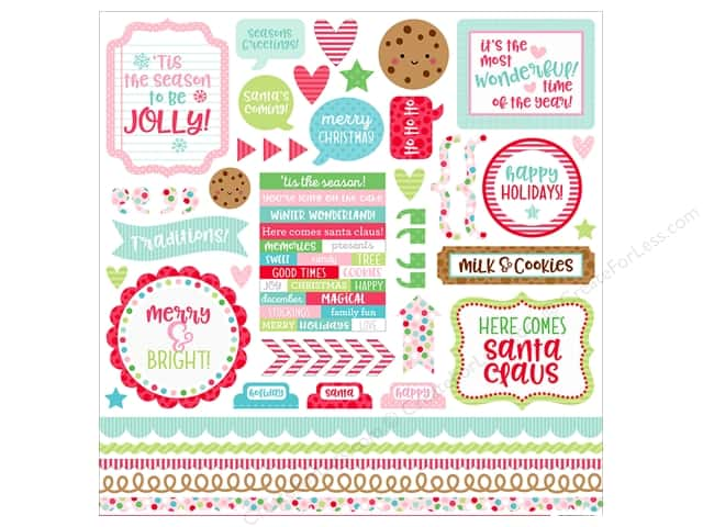Doodlebug Collection Milk & Cookies Sticker This & That (12 pieces)