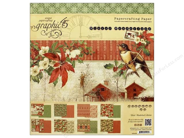 Graphic 45 Winter Wonderland Paper Pad 8 in. x 8 in.