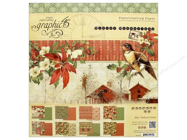 Graphic 45 Winter Wonderland Paper Pad 12 in. x 12 in.