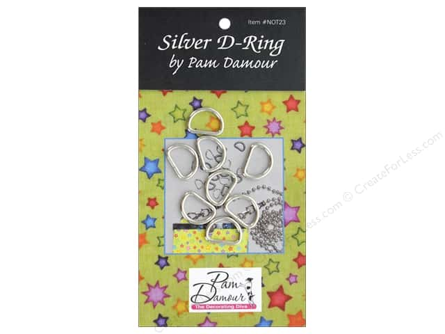 Pam Damour D Rings .5 in. Silver 8pc