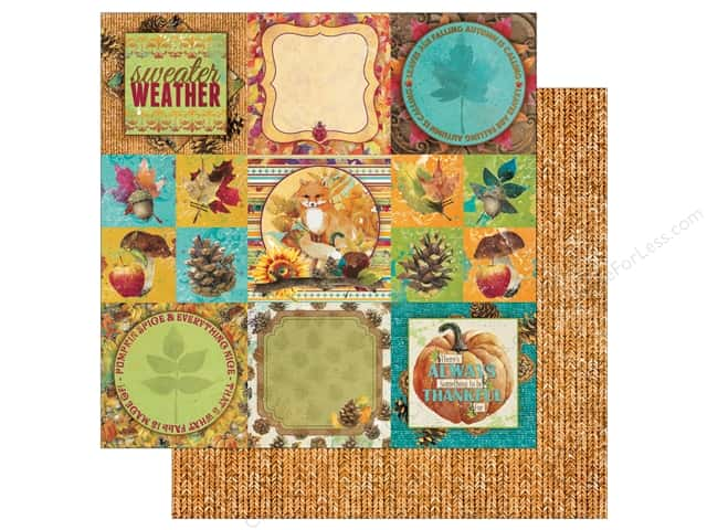 Bo Bunny Dreams Of Autumn Paper 12 in. x 12 in. Fall (25 pieces)
