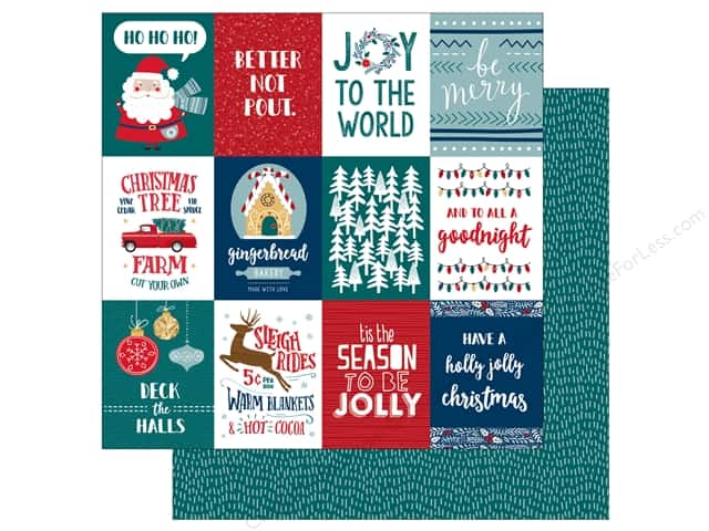 Bo Bunny Collection Fa La La Paper 12 in. x 12 in. Be Merry (25 pieces)