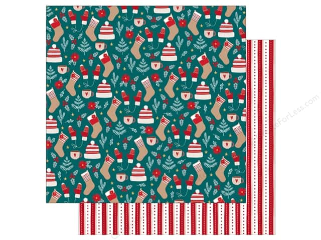 Bo Bunny Collection Fa La La Paper 12 in. x 12 in. Warm & Cozy (25 pieces)