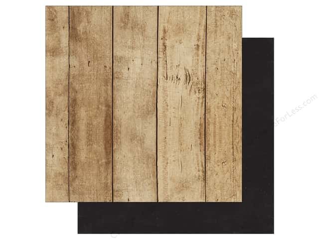 Echo Park A Perfect Christmas Paper 12 in. x 12 in. Woodgrain/Black (25 pieces)