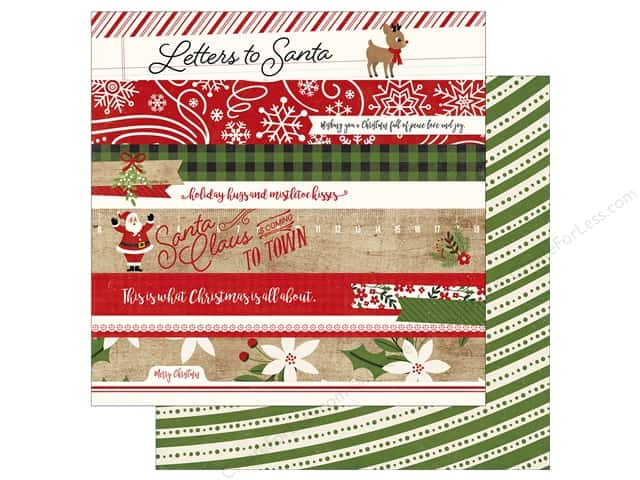 Echo Park A Perfect Christmas Paper 12 in. x 12 in. Border Strips (25 pieces)