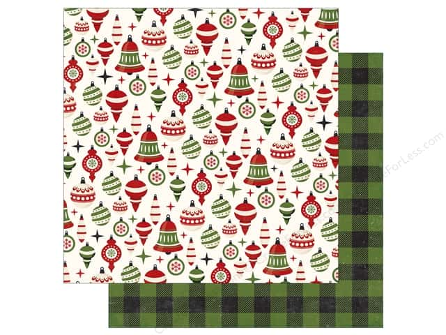 Echo Park A Perfect Christmas Paper 12 in. x 12 in. Holiday Ornaments (25 pieces)