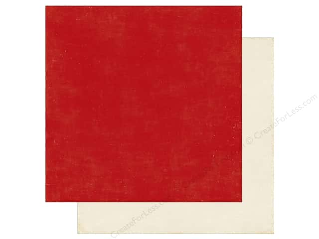 Echo Park A Perfect Christmas Paper 12 in. x 12 in. Red/Cream (25 pieces)