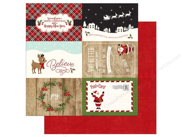 Echo Park A Perfect Christmas Paper 12 in. x 12 in. Journaling Cards 4 in. x 6 in. (25 pieces)