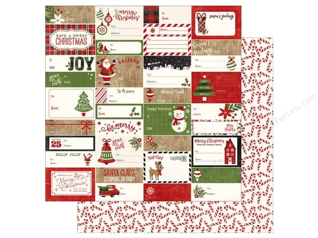 Echo Park A Perfect Christmas Paper 12 in. x 12 in. Gift Tags (25 pieces)
