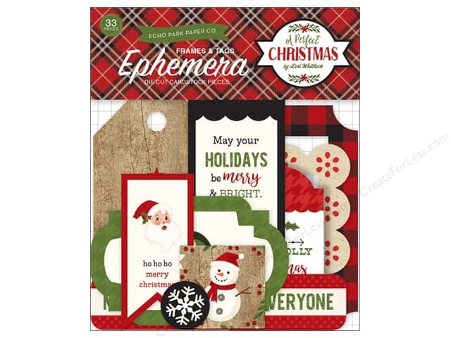 Echo Park Collection A Perfect Christmas Ephemera Frames & Tags
