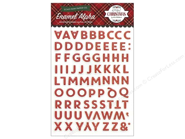 Echo Park Collection A Perfect Christmas Enamel Letters