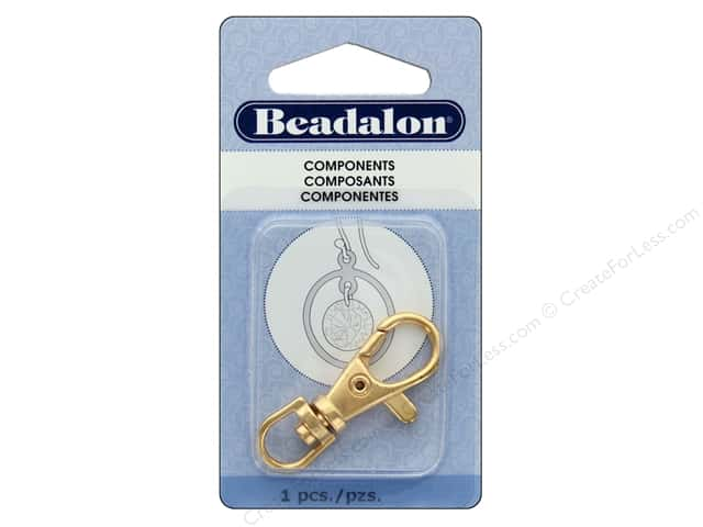 Beadalon Findings Badge Clip With Swivel 38 mm Gold Plate 1 pc