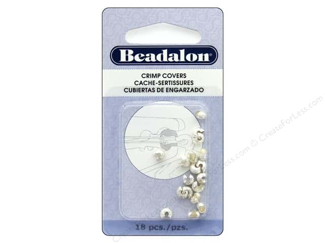 Beadalon Crimp Covers 5 mm 18 pc Sparkle Silver Plate