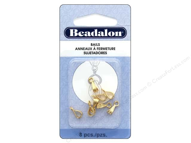Beadalon Bails Pendant Fancy Gold Plate 8 pc