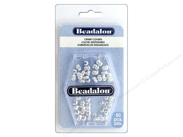 Beadalon Crimp Covers Variety Pack Silver Plated 80 pc.