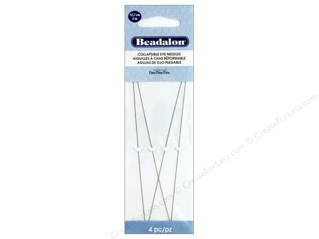 Beadalon Beading Needles Collapse Eye 5 in.  Fine 4 pc