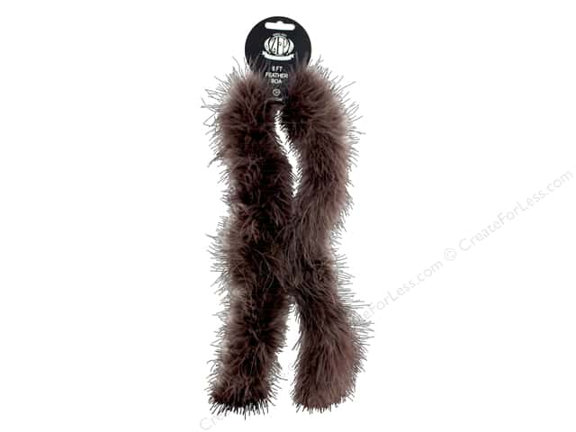Zucker Feather Boa Marabou 2 yd Medium Weight Brown
