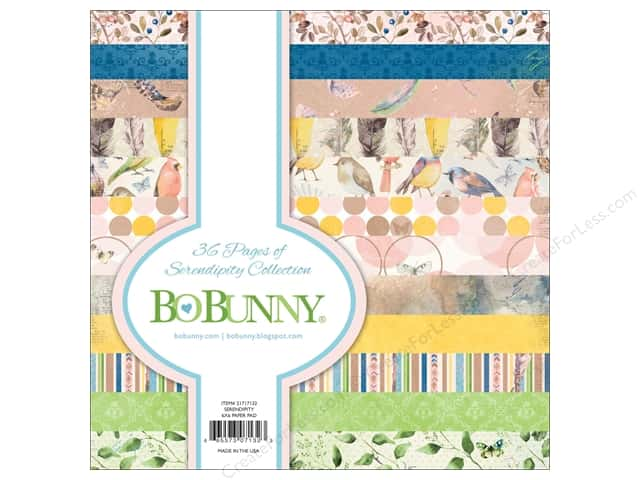 Bo Bunny Collection Serendipity Paper Pad 6 in. x 6 in.