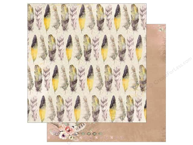 Bo Bunny Collection Serendipity Paper 12 in. x 12 in.  Feathers (25 pieces)