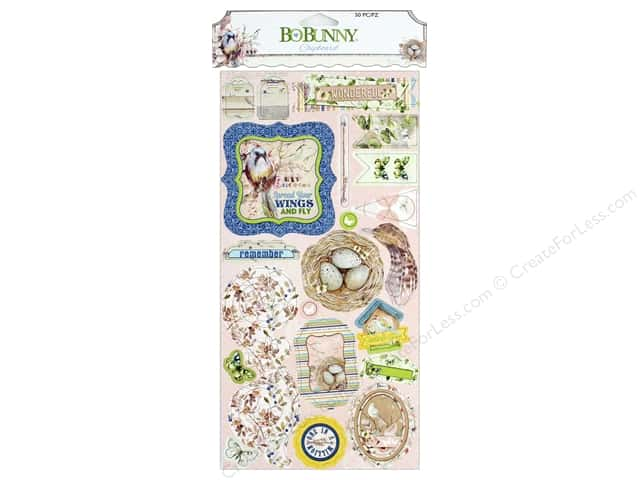 Bo Bunny Collection Serendipity Chipboard