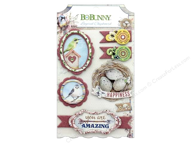 Bo Bunny Collection Serendipity Layered Chipboard