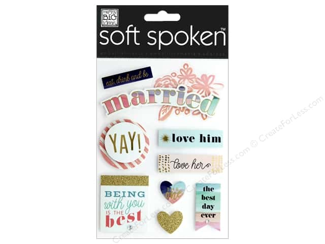 Me&My Big Ideas Sticker Soft Spoken Married