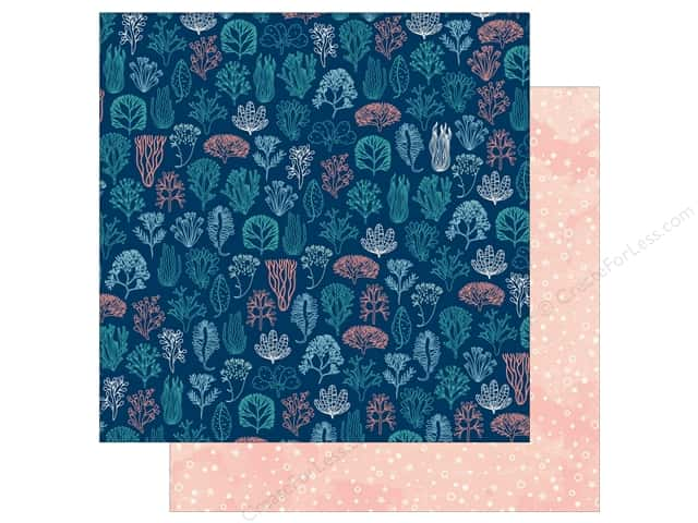 Bo Bunny Down By The Sea Paper 12 in. x 12 in.  Coral (25 pieces)