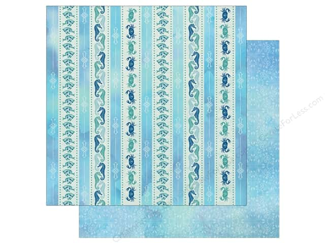 Bo Bunny Down By The Sea Paper 12 in. x 12 in.  Seahorse (25 pieces)