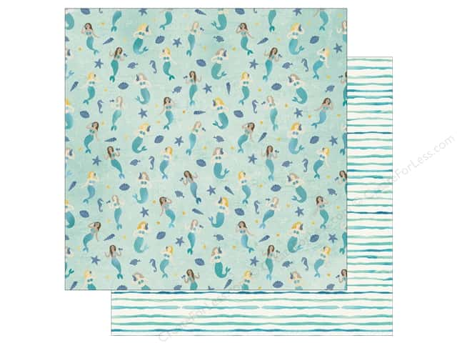 Bo Bunny Down By The Sea Paper 12 in. x 12 in.  Mermaids (25 pieces)