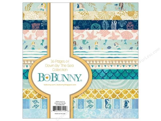 Bo Bunny Down By The Sea Paper Pad 6 in. x 6 in.