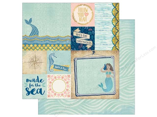 Bo Bunny Down By The Sea Paper 12 in. x 12 in.  Paradise (25 pieces)