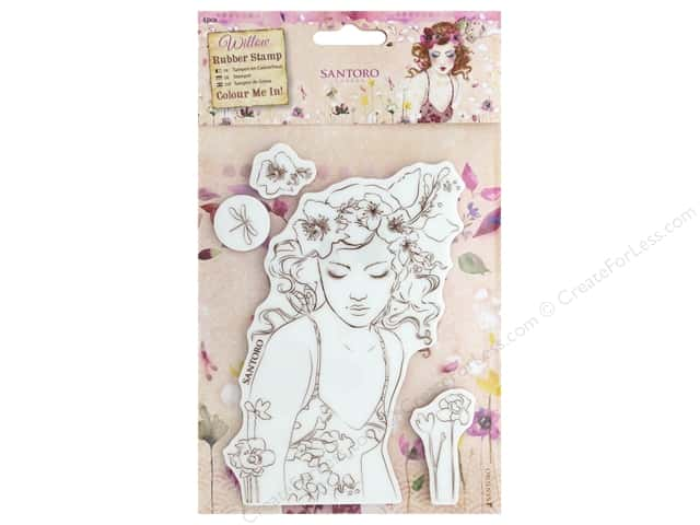 Docrafts Santoro Willow Color Me In Stamp Innocence