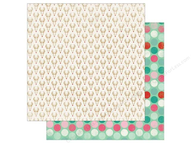 """Authentique Collection Colorful Christmas Paper 12""""x 12"""" One (25 pieces)"""