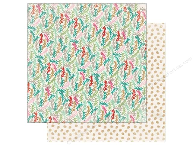 Authentique Collection Colorful Christmas Paper 12 in. x 12 in. Five (25 pieces)