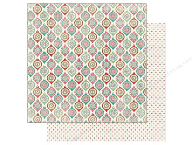 Authentique Collection Colorful Christmas Paper 12 in. x 12 in. Three (25 pieces)